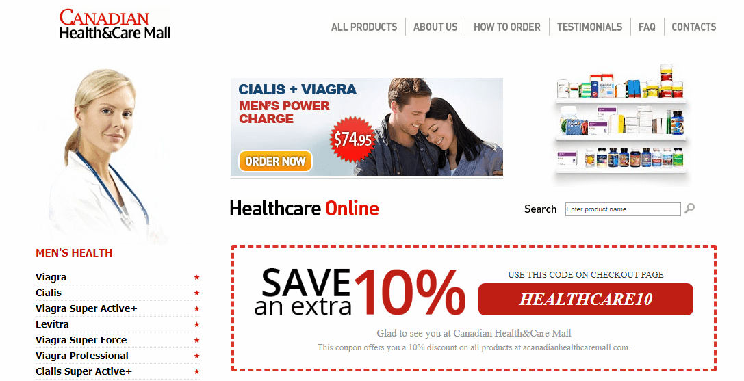 Canadian Health & Care Mall Homepage