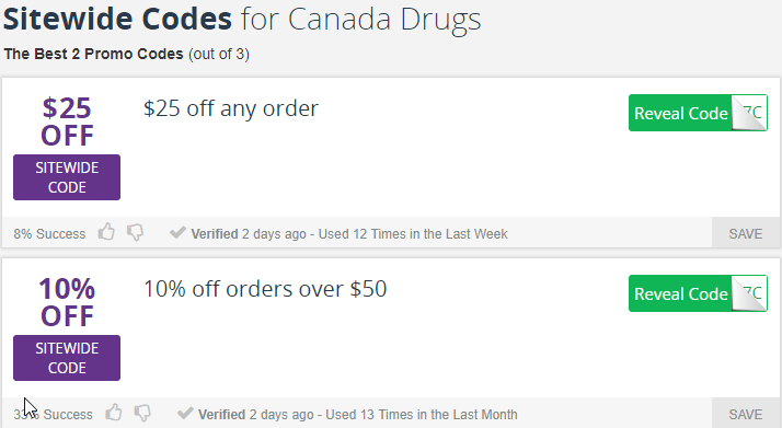 Canada Drugs Promo Codes