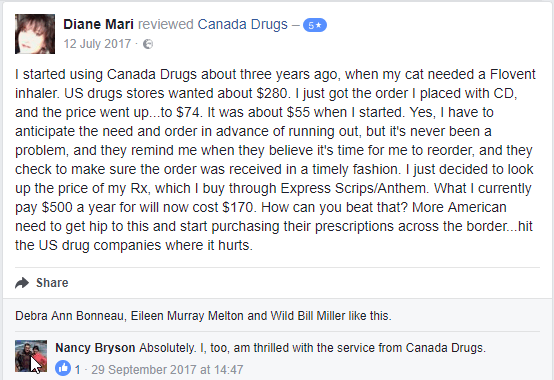 Canada Drugs Customer Comment