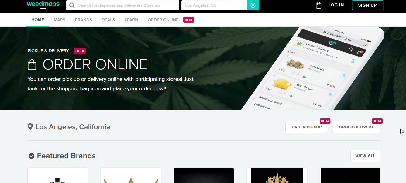 Weedmaps Website