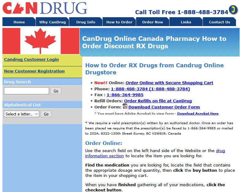 Online Canadian Drugstore