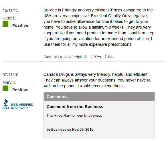 Canada Drugs Reviews