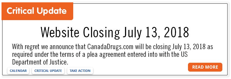 Canada Drugs Critical Update