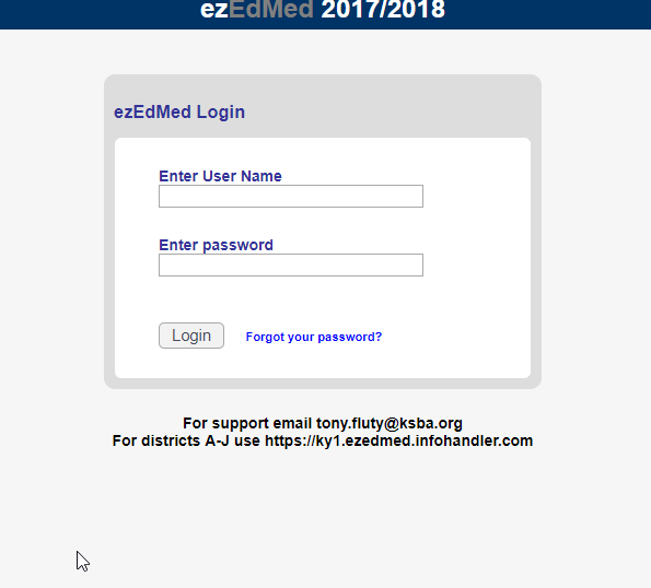 Ez Ed Med Ky 2 Login Interface