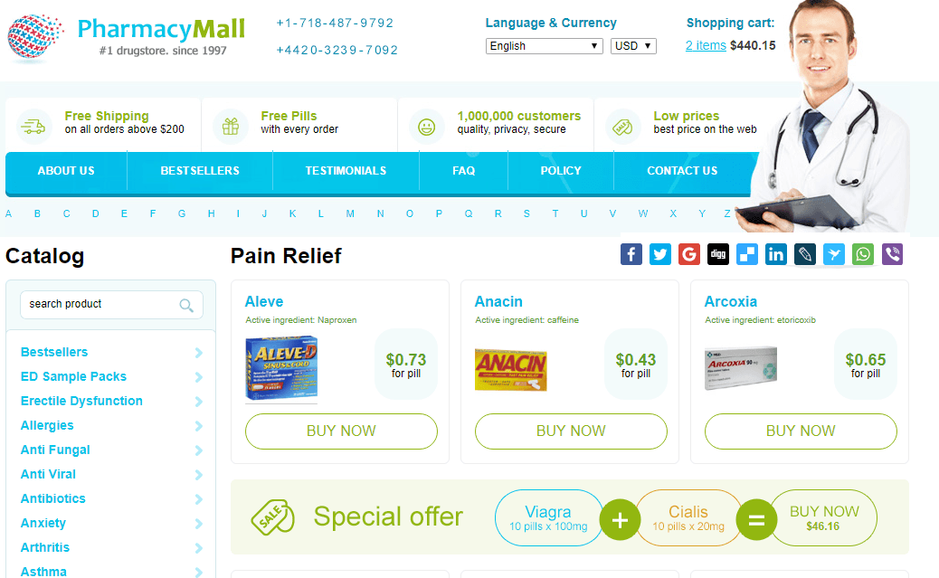 Pharmacy Mall Pain Relief Products